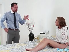 Stepdaughter gets pounded by her stepdad