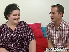 Great sex with obese wench