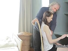 Cute schoolgirl was seduced and plowed by her older teacher