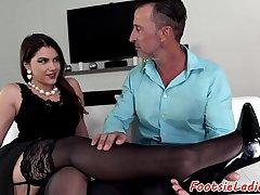 Bigtit babes feet got jizzed after analsex