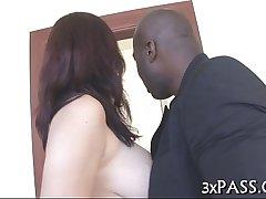 Dilettante interracial porn