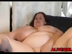 Canadian BBW DebbieSC3 with natural big boobs and tight pussy ALIVEGIRL