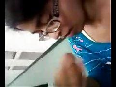 Chandigarh teen girlfriend gets cum all over her body after blowjob