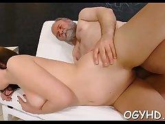 Juvenile girl blows old pecker