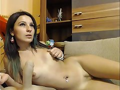 Gipsy Teen Rides A Dildo on BasedCams.com