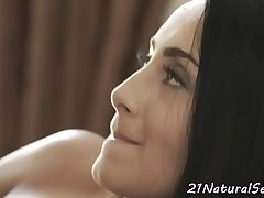 Tempting eurobabe fucked by her new bf