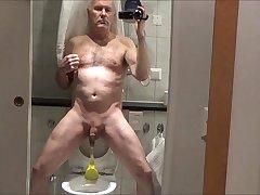 Unstoppable pervert - Ulf Larsen peeing &amp_ wanking