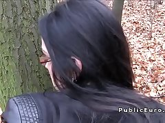 Divorced amateur babe fucked in public outdoors