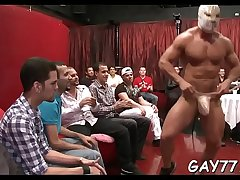 Stripper cummin on his face
