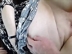 A Granny BBW'_s Shaved Pussy