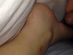 sleep feet cum
